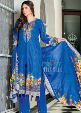 Five Star Printed Lawn Unstitched 3 Piece Suit FS19-L2 1235B - Spring / Summer Collection