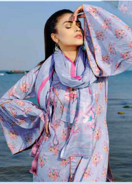 Five Star Printed Lawn Unstitched 3 Piece Suit FS20C 1014B - Spring / Summer Collection