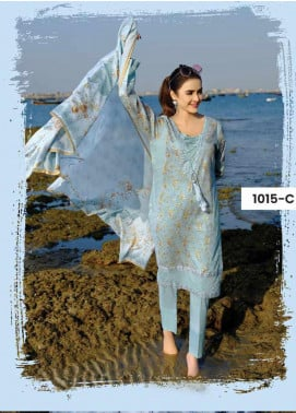 Five Star Printed Lawn Unstitched 3 Piece Suit FS20C 1015C - Spring / Summer Collection