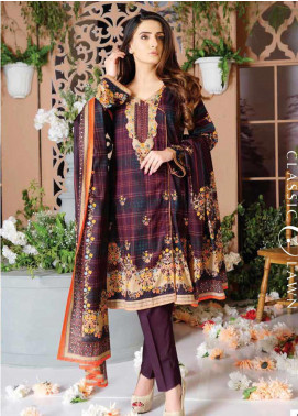 Five Star Printed Lawn Unstitched 3 Piece Suit FS20CL-1 1201B - Spring / Summer Collection