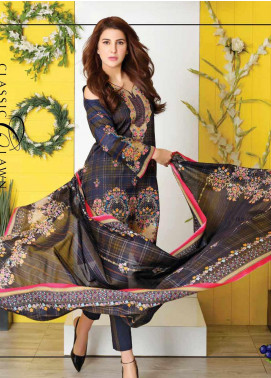 Five Star Printed Lawn Unstitched 3 Piece Suit FS20CL-1 1201C - Spring / Summer Collection
