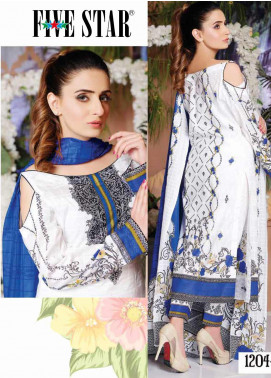 Five Star Printed Lawn Unstitched 3 Piece Suit FS20CL-1 1204B - Spring / Summer Collection