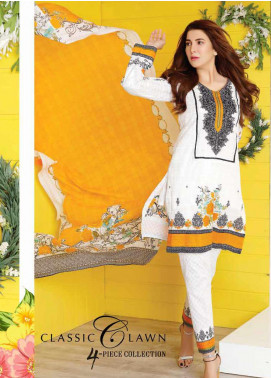 Five Star Printed Lawn Unstitched 3 Piece Suit FS20CL-1 1204C - Spring / Summer Collection