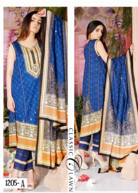 Five Star Printed Lawn Unstitched 3 Piece Suit FS20CL-1 1205A - Spring / Summer Collection