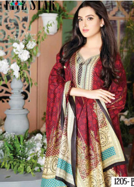 Five Star Printed Lawn Unstitched 3 Piece Suit FS20CL-1 1205B - Spring / Summer Collection