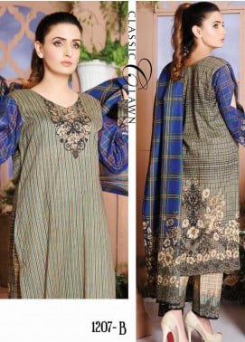 Five Star Printed Lawn Unstitched 3 Piece Suit FS20CL-1 1207B - Spring / Summer Collection