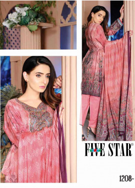 Five Star Printed Lawn Unstitched 3 Piece Suit FS20CL-1 1208B - Spring / Summer Collection