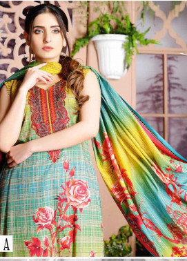 Five Star Printed Lawn Unstitched 3 Piece Suit FS20CL-1 1210A - Spring / Summer Collection