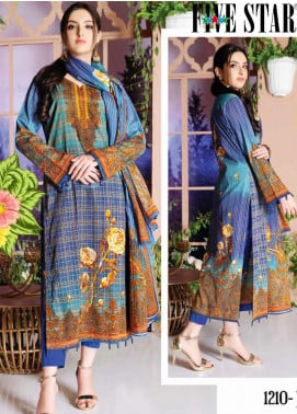 Five Star Printed Lawn Unstitched 3 Piece Suit FS20CL-1 1210B - Spring / Summer Collection