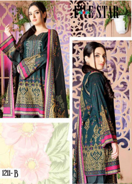 Five Star Printed Lawn Unstitched 3 Piece Suit FS20CL-1 1211B - Spring / Summer Collection