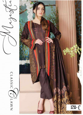 Five Star Printed Lawn Unstitched 3 Piece Suit FS20CL-1 1211C - Spring / Summer Collection