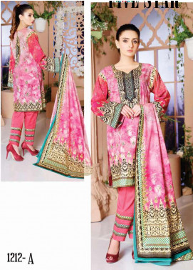 Five Star Printed Lawn Unstitched 3 Piece Suit FS20CL-1 1212A - Spring / Summer Collection