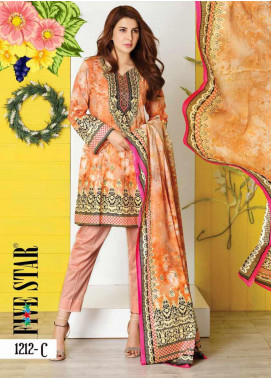 Five Star Printed Lawn Unstitched 3 Piece Suit FS20CL-1 1212C - Spring / Summer Collection