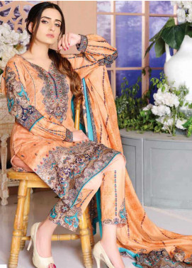Five Star Printed Lawn Unstitched 3 Piece Suit FS20CL-1 1214C - Spring / Summer Collection