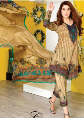 Five Star Printed Lawn Unstitched 3 Piece Suit FS20CL-1 1215C - Spring / Summer Collection