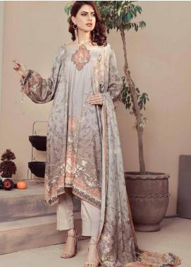 Five Star Printed Linen Unstitched 3 Piece Suit FS20LN D-175-A - Winter Collection
