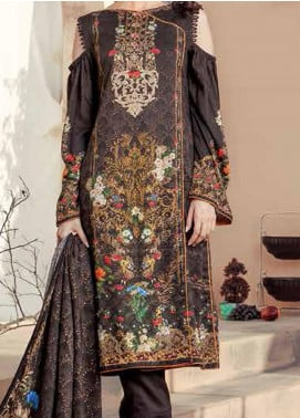 Five Star Printed Linen Unstitched 3 Piece Suit FS20LN D-186 - Winter Collection