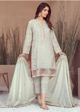 Five Star Printed Linen Unstitched 3 Piece Suit FS20LN D-193-B - Winter Collection