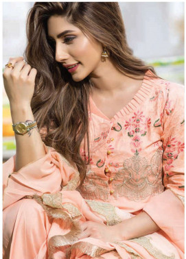 Floral Vintage Embroidered Swiss Voile Unstitched 3 Piece Suit FL18S 04 - Summer Collection
