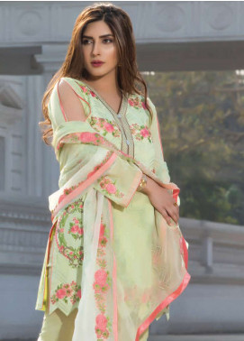 Floral Vintage Embroidered Swiss Voile Unstitched 3 Piece Suit FL18S 07 - Summer Collection
