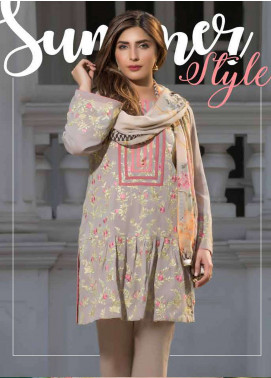Floral Vintage Embroidered Swiss Voile Unstitched 3 Piece Suit FL18S 09 - Summer Collection