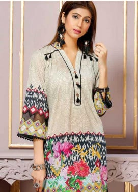 Florence by Mohagni Printed Lawn Unstitched Kurties FMO19-T2 19 - Mid Summer Collection