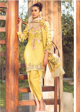 Florence by Rang Rasiya Embroidered Lawn Unstitched 3 Piece Suit FRR19L 8003A - Spring / Summer Collection