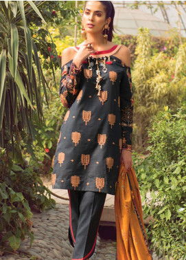 Florence by Rang Rasiya Embroidered Lawn Unstitched 3 Piece Suit FRR19L 8008B - Spring / Summer Collection