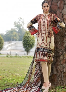 Florence by Rang Rasiya Embroidered Lawn Unstitched 3 Piece Suit RR20FL-514 - Spring / Summer Collection