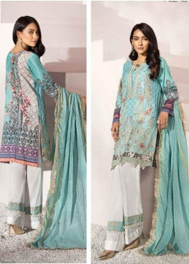 Florent Embroidered Jacquard Unstitched 3 Piece Suit F20LC 1B - Luxury Collection