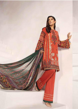 Florent Embroidered Lawn Unstitched 3 Piece Suit F20LC 2A - Luxury Collection