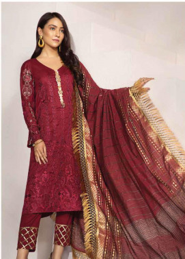 Florent Embroidered Lawn Unstitched 3 Piece Suit F20LC 3A - Luxury Collection