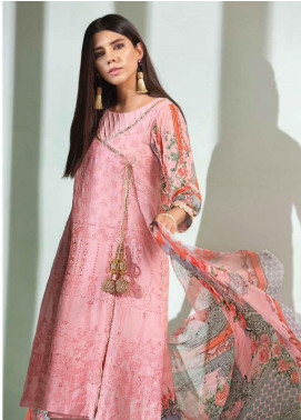 Florent Embroidered Lawn Unstitched 3 Piece Suit F20LC 4A - Luxury Collection