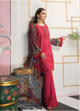 Florent Embroidered Lawn Unstitched 3 Piece Suit F20LC 4B - Luxury Collection