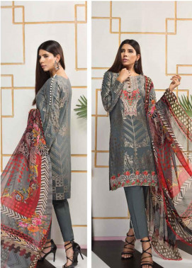 Florent Embroidered Jacquard Unstitched 3 Piece Suit F20LC 5A - Luxury Collection