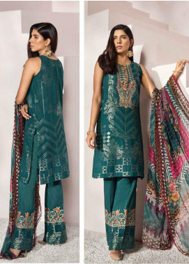Florent Embroidered Jacquard Unstitched 3 Piece Suit F20LC 5B - Luxury Collection