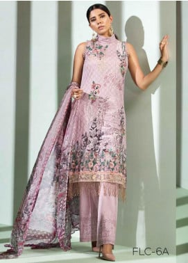 Florent Embroidered Lawn Unstitched 3 Piece Suit F20LC 6A - Luxury Collection