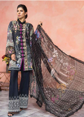 Florent Embroidered Lawn Unstitched 3 Piece Suit F20LC 6B - Luxury Collection