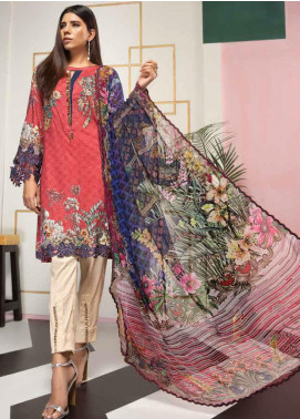 Florent Embroidered Lawn Unstitched 3 Piece Suit F20LC 7A - Luxury Collection