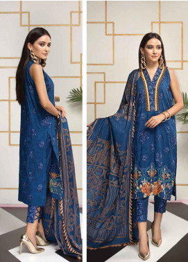 Florent Embroidered Lawn Unstitched 3 Piece Suit F20LC 8A - Luxury Collection
