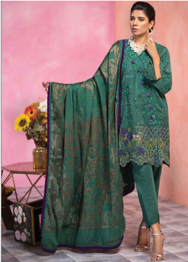Florent Embroidered Lawn Unstitched 3 Piece Suit F20LC 8B - Luxury Collection