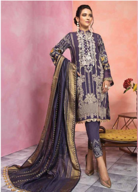 Florent Embroidered Jacquard Unstitched 3 Piece Suit F20LC 9A - Luxury Collection