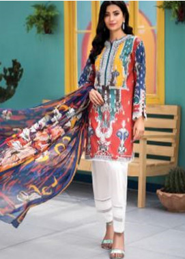 Florent Printed Lawn Unstitched 2 Piece Suit F20SV 04 - Summer Collection