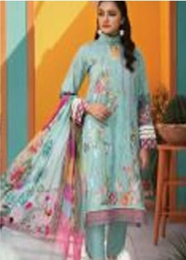 Florent Embroidered Lawn Unstitched 3 Piece Suit F20SV 13 - Summer Collection