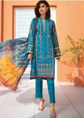 Florent Embroidered Lawn Unstitched 3 Piece Suit F20SV 15 - Summer Collection