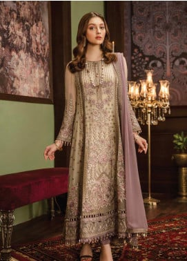 Flossie Embroidered Chiffon Unstitched 3 Piece Suit FL19-C5 01 PASTELUES - Luxury Collection