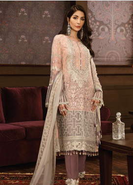 Flossie Embroidered Chiffon Unstitched 3 Piece Suit FL19-C5 03 MESMERISING - Luxury Collection