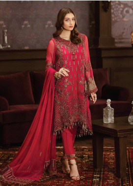 Flossie Embroidered Chiffon Unstitched 3 Piece Suit FL19-C5 08 RIVOLIS - Luxury Collection