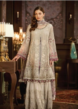Flossie Embroidered Chiffon Unstitched 3 Piece Suit FL19-C5 09 ISABELA - Luxury Collection