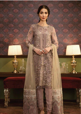 Flossie Embroidered Chiffon Unstitched 3 Piece Suit FL19-C5 10 NOIR - Luxury Collection